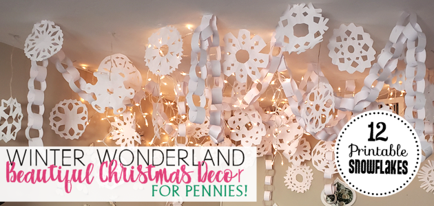 Make a Winter Wonderland for Pennies! Free Snowflake Patterns