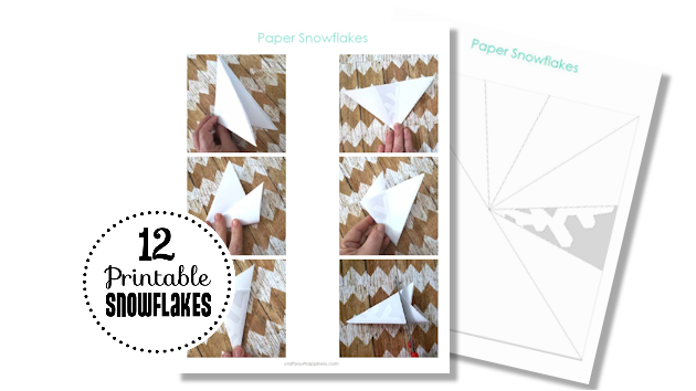 Make a Winter Wonderland for Pennies using only white paper, scissors and a stapler! Twinkle lights optional.  Free Snowflake Patterns included!