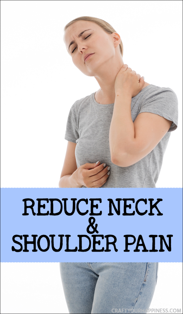Here are some tips to help Reduce Neck and Shoulder Pain often caused by lifestyle factors like how we sit, work or stand during the day as well as stress.