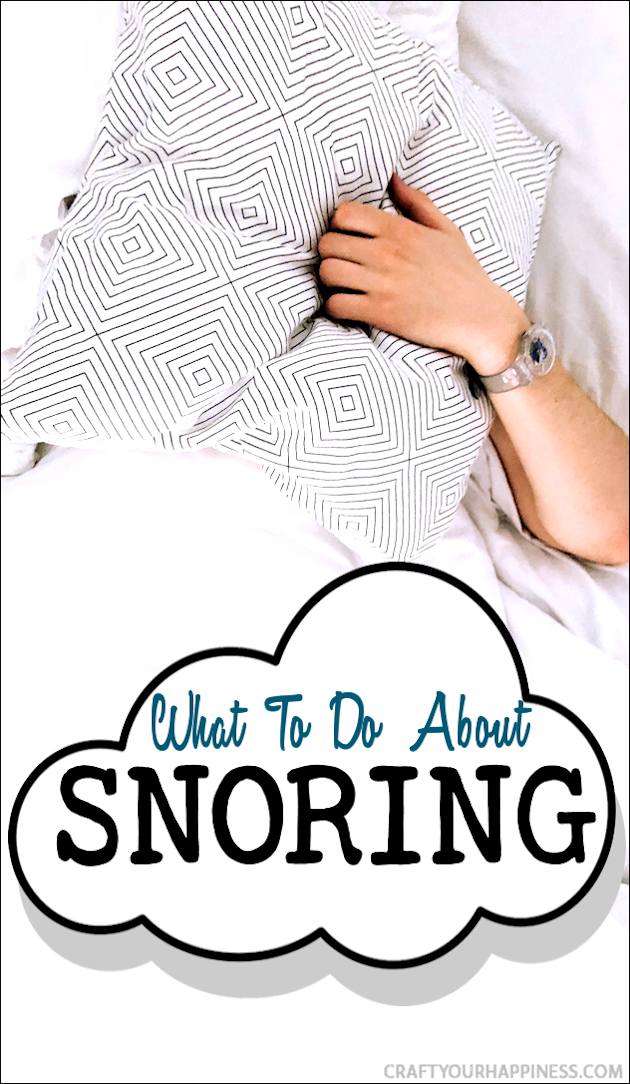 Snoring is a common problem whether it be you personally or the person you share the bed with. Here are a few ideas on what to do about snoring.