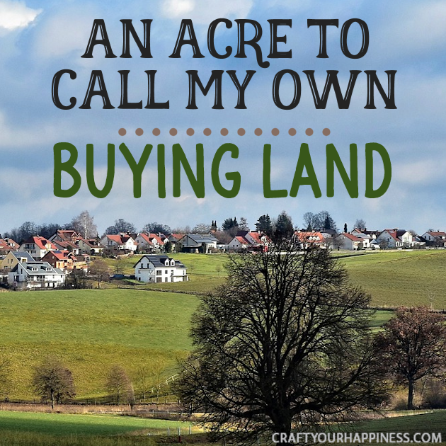 Depending on where you live buying a small bit of land could be something that allows you to do things like adding a shop or doing some urban gardening.