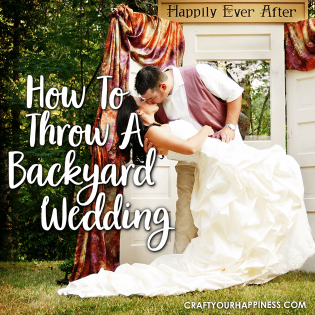 A backyard wedding can allow you to enjoy your special day in a place that's personal and familiar to you. This post is filled with tips and an example!
