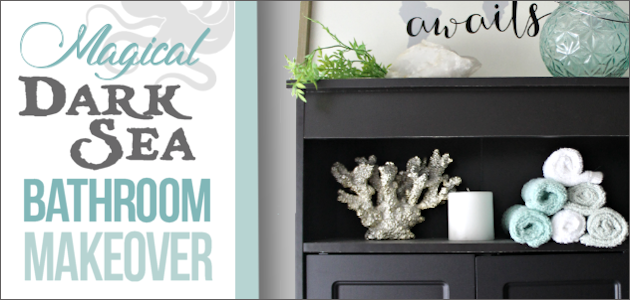 Magical Dark Sea Bathroom Makeover