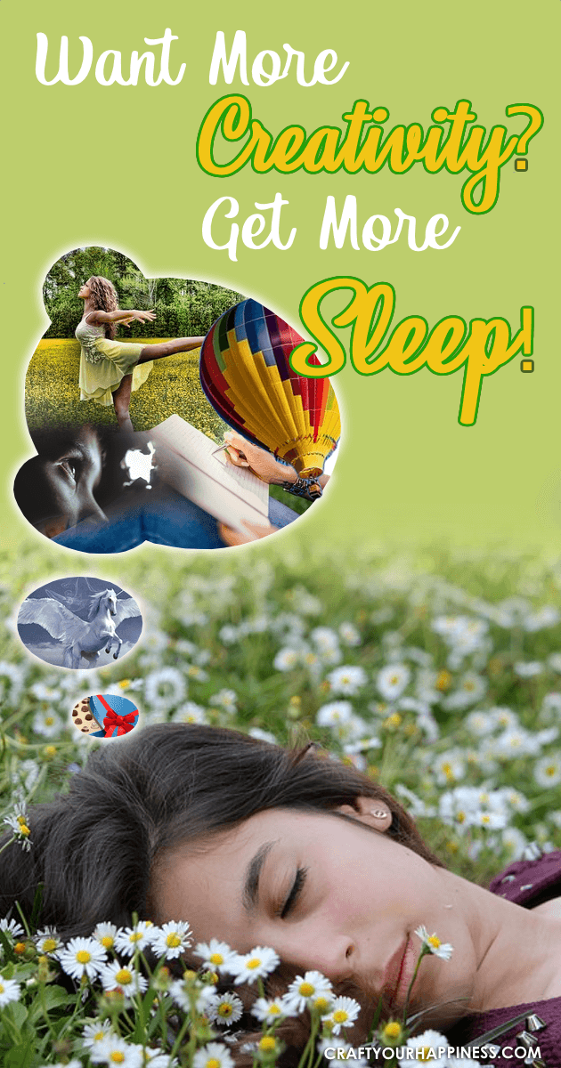 One of the problems that can occur when you're not well rested is lack of creativity. Here's some info to help understand why you need to Get More Sleep.