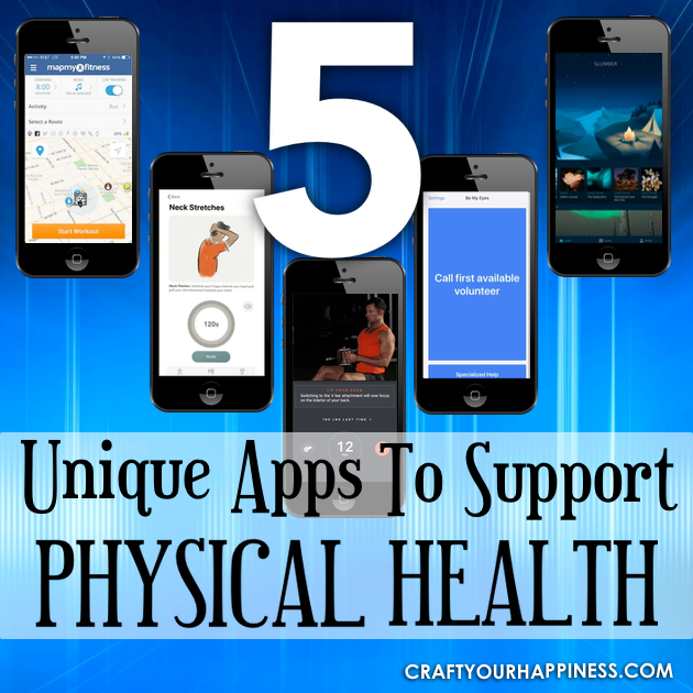 Taking care of your physical health can be a challenge. Check out 5 unique apps to support physical health.