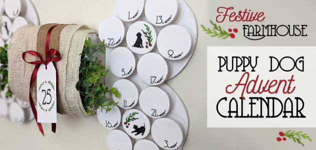 Kids shouldn't be the only ones who enjoy a holiday countdown. Check out our DIY farmhouse puppy dog advent calendar for your furry child!