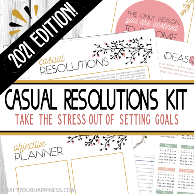 It's 2021 & goals have never been easier! This is our 6th edition of our FREE & popular Casual Resolutions Kit with a whole new theme & ideas!
