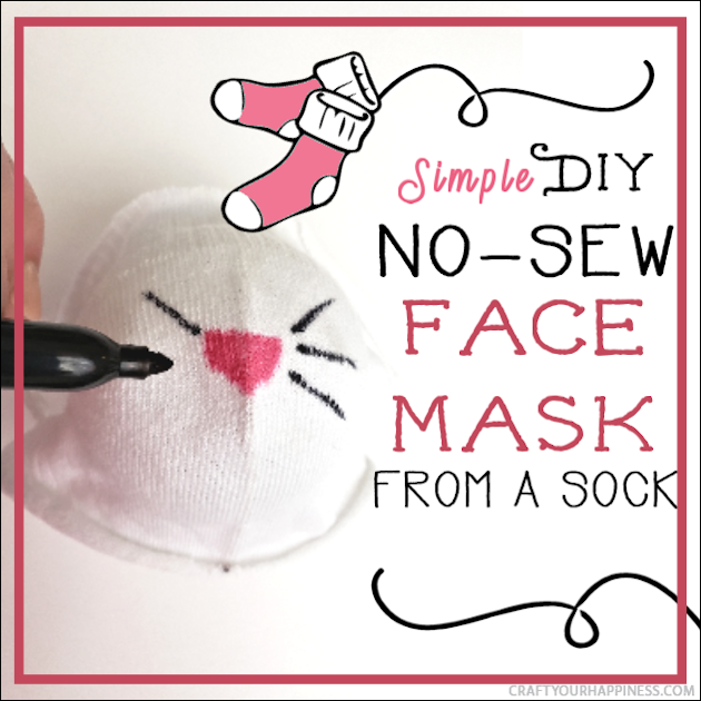 A 10 minute simple no-sew face mask made from a sock and filter material will help protect you and those you love from the spread of COVID-19.