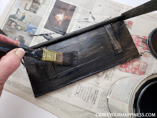 How to Make a TV Top Shelf from Paint Sticks 300