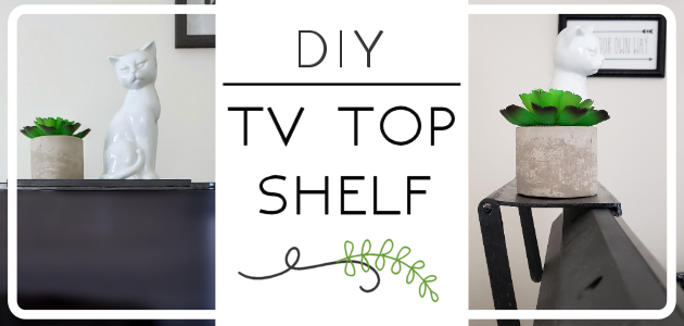 How to Make a TV Top Shelf from Paint Sticks