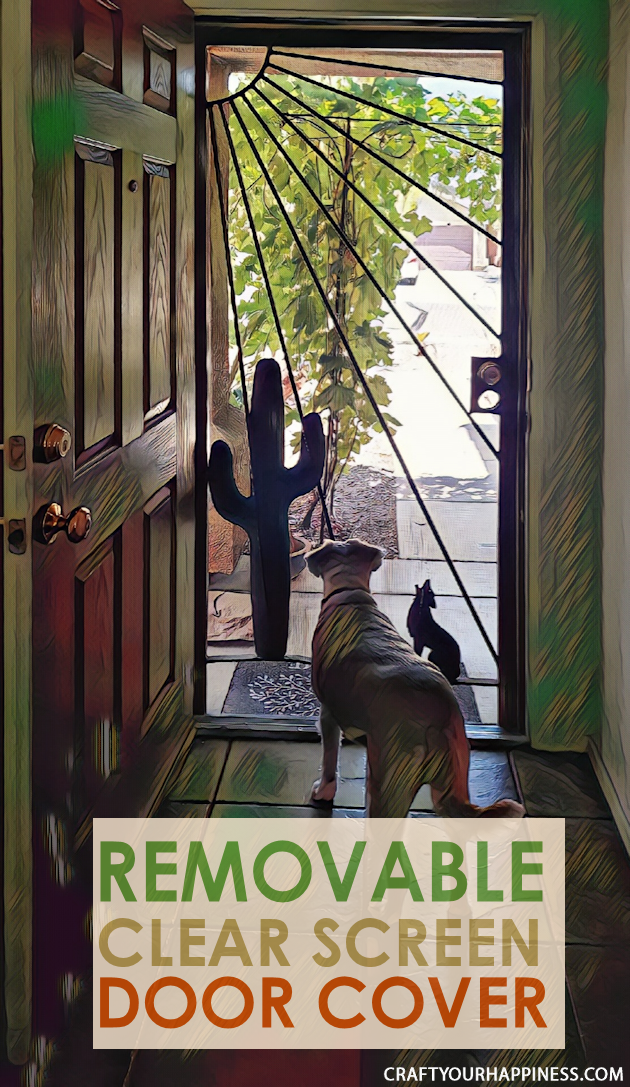If you have a screen door with no glass here is a fairly simple DIY removable clear screen door cover you can make for minimal cost.
