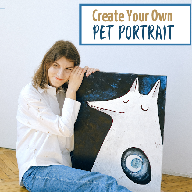 Everyone loves their pets! If you're looking for some easy steps to create your own pet portrait, we've got you covered.